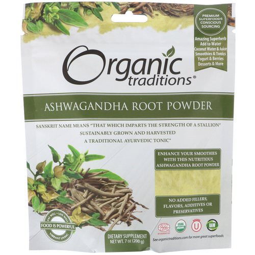 Organic Traditions, Ashwagandha Root Powder, 7 oz (200 g) Review