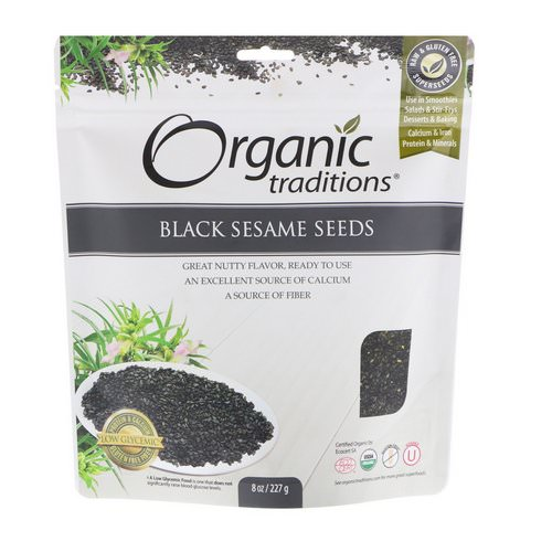 Organic Traditions, Black Sesame Seeds, 8 oz (227 g) Review