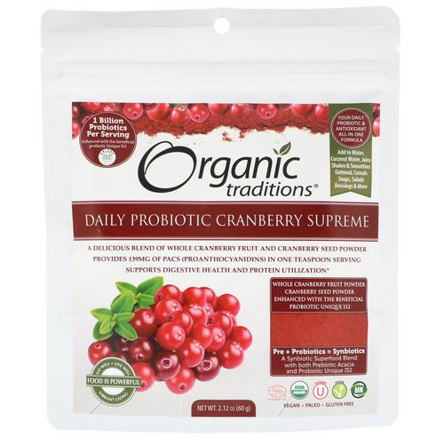 Organic Traditions, Daily Probiotic Cranberry Supreme, 2.12 oz (60 g) Review