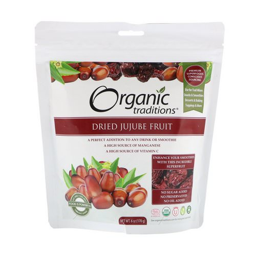Organic Traditions, Dried Jujube Fruit, 6 oz (170 g) Review