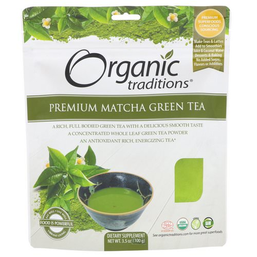 Organic Traditions, Premium Matcha Green Tea, 3.5 oz (100 g) Review