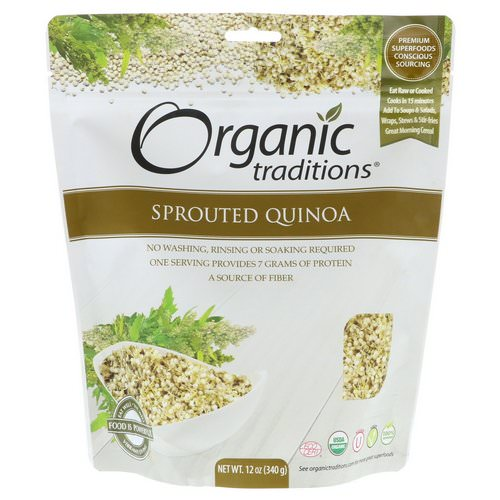 Organic Traditions, Sprouted Quinoa, 12 oz (340 g) Review