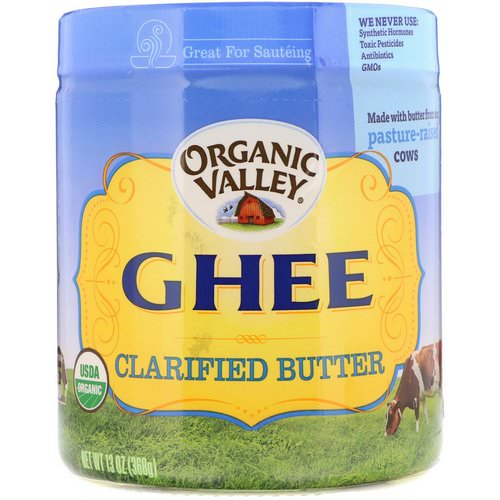 Organic Valley, Organic, Ghee, Clarified Butter, 13 oz (368 g) Review