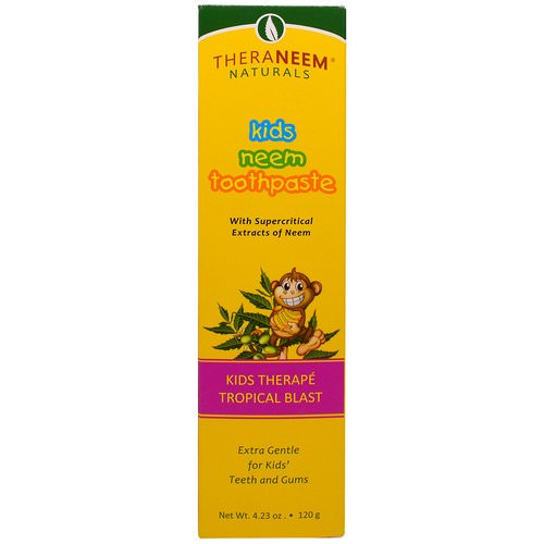 Organix South, TheraNeem Naturals, Kids Therape, Kids Neem Toothpaste, Tropical Blast, 4.23 oz (120 g) Review