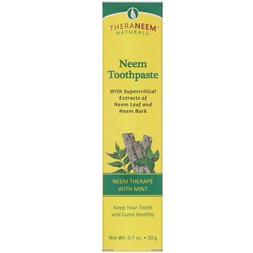 Organix South, TheraNeem Naturals, Neem Therape with Mint, Neem Toothpaste, 0.7 oz (20 g) Review