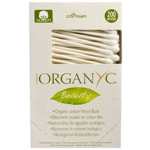 Organyc, Beauty, Organic Cotton Wool Buds, 200 Pieces Review