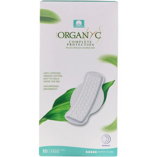 Organyc, Organic Cotton Pads, Super Flow, 10 Pads Review