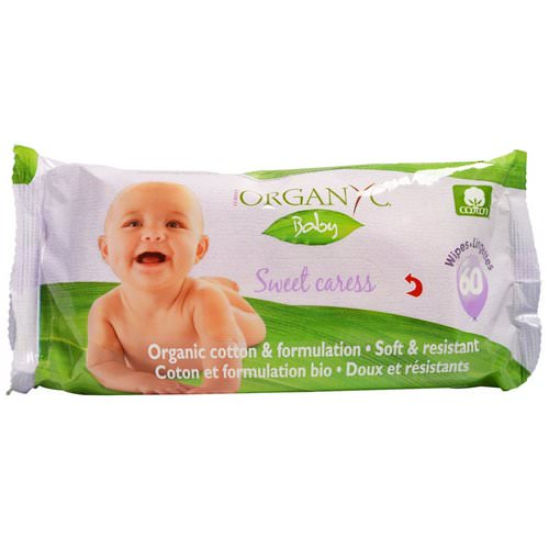 Organyc, Sweet Caress, Organic Cotton Baby Wipes, 60 Wipes Review