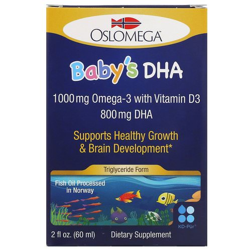 Oslomega, Norwegian Baby's DHA with Vitamin D3, 800 mg, 2 fl oz (60 ml) Review