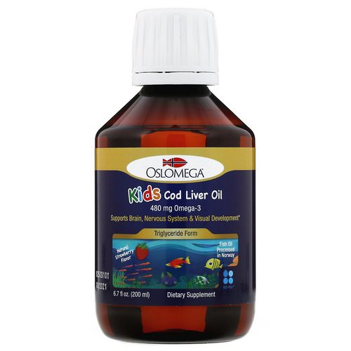 Oslomega, Norwegian Kid's Cod Liver Oil, Natural Strawberry Flavor, 480 mg, 6.7 fl oz (200 ml) Review