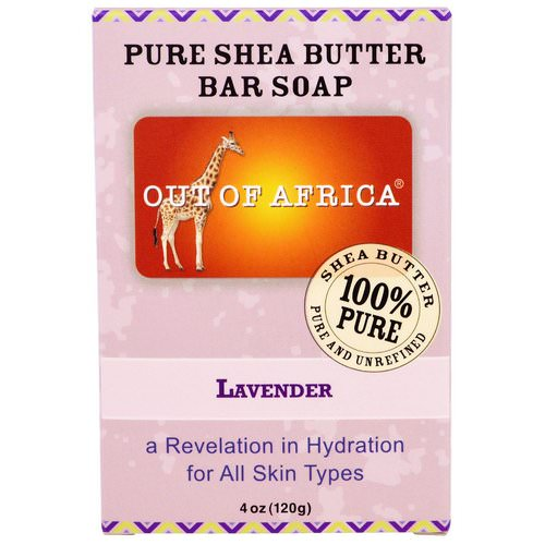 Out of Africa, Pure Shea Butter Bar Soap, Lavender, 4 oz (120 g) Review