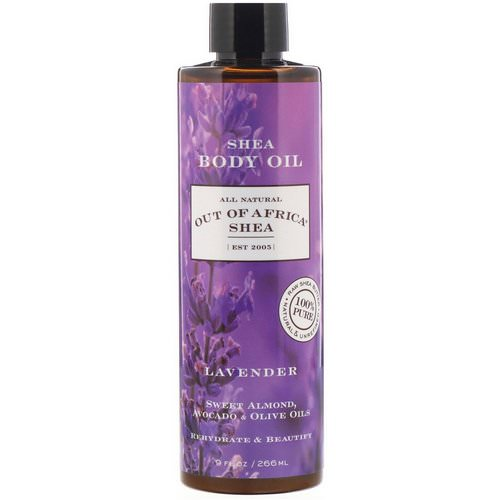 Out of Africa, Shea Body Oil, Lavender, 9 fl oz (266 ml) Review