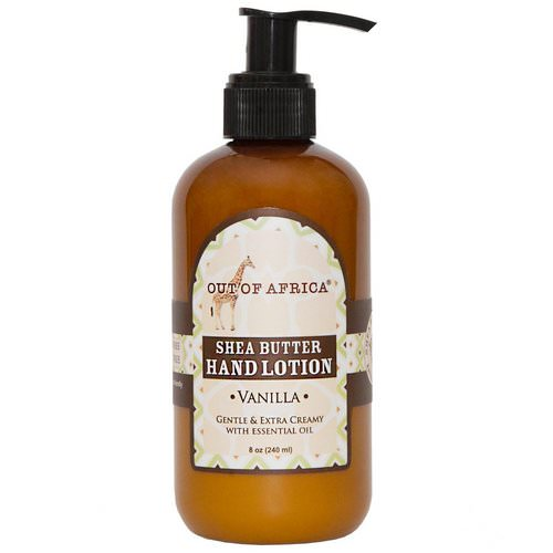 Out of Africa, Shea Butter Hand Lotion, Vanilla, 8 oz (230 ml) Review