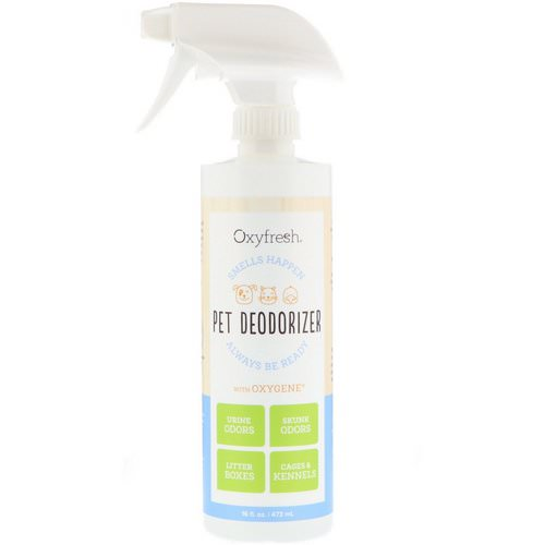 Oxyfresh, Pet Deodorizer, Smells Happen Always Be Ready, 16 fl oz (473 ml) Review
