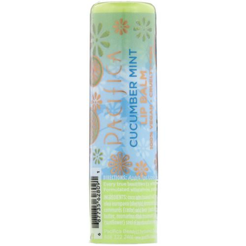 Pacifica, Lip Balm, Cucumber Mint, 0.15 oz (4.2 g) Review