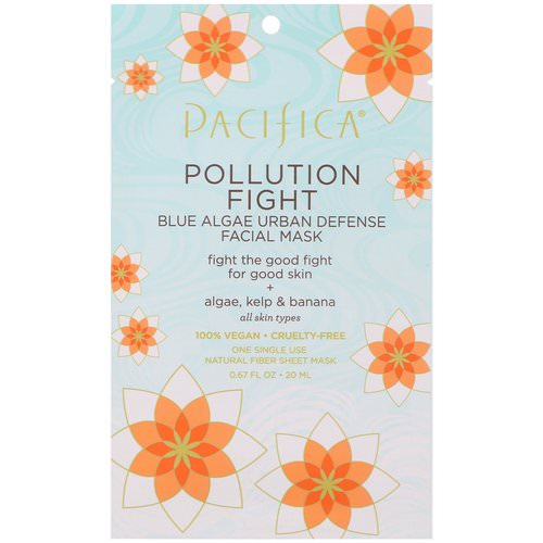 Pacifica, Pollution Fight, Blue Algae Urban Defense Facial Mask, 1 Mask, 0.67 fl oz (20 ml) Review