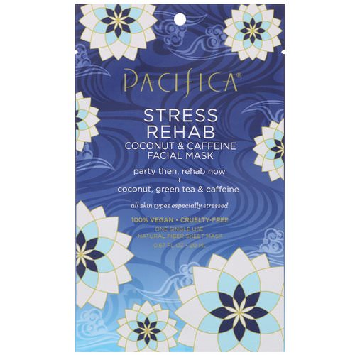 Pacifica, Stress Rehab, Coconut & Caffeine Facial Mask, 1 Mask, 0.67 fl oz (20 ml) Review