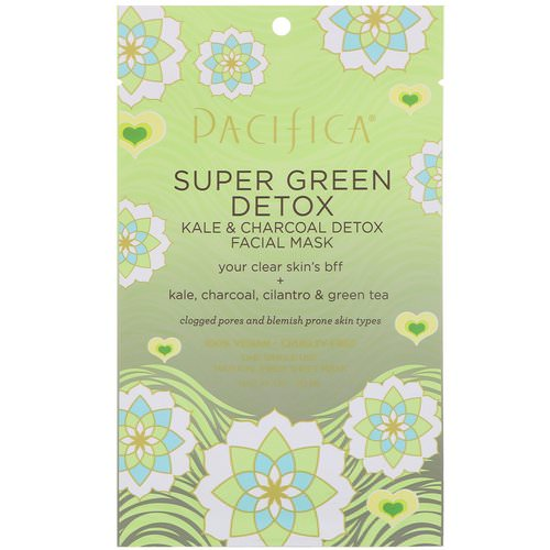Pacifica, Super Green Detox, Kale & Charcoal Detox Facial Mask, 1 Mask, 0.67 fl oz (20 ml) Review