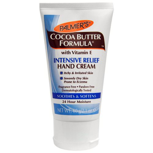 Palmer's, Cocoa Butter Formula, Intensive Relief Hand Cream, Fragrance Free, 2.1 oz (60 g) Review