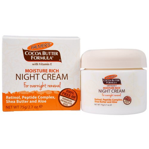Palmer's, Cocoa Butter Formula, Moisture Rich Night Cream, 2.7 oz (75 g) Review