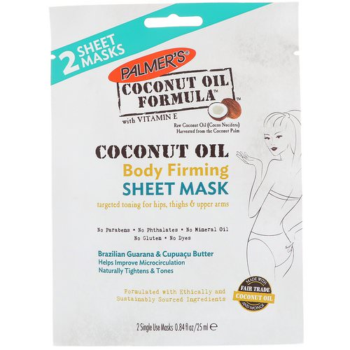 Palmer's, Coconut Oil, Body Firming Sheet Mask, 2 Sheet Masks, 0.84 fl oz (25 ml) Review
