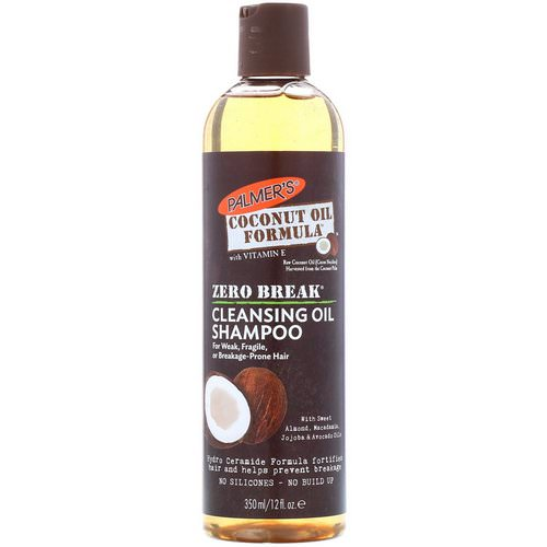Palmer's, Coconut Oil Formula, Zero Break, Cleansing Oil Shampoo, For Weak, Fragile, or Breakage-Prone Hair, 12 fl oz (350 ml) Review