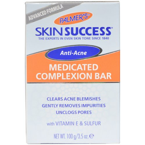 Palmer's, Skin Success, Anti-Acne, Medicated Complexion Bar, 3.5 oz (100 g) Review