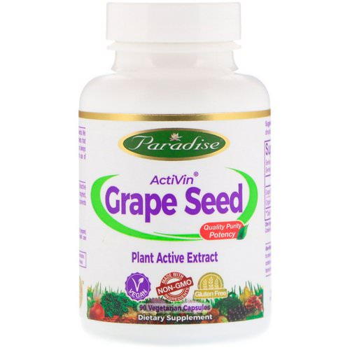 Paradise Herbs, ActiVin, Grape Seed Extract, 90 Vegetarian capsules Review