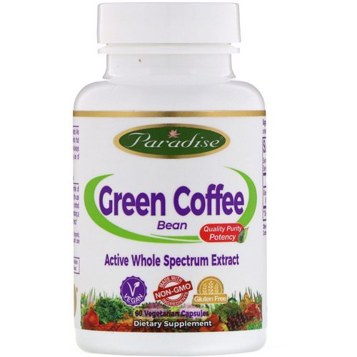 Paradise Herbs Homeopathy Green Coffee Bean