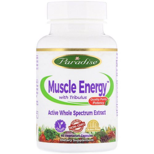 Paradise Herbs, Muscle Energy with Tribulus, 60 Vegetarian Capsules Review