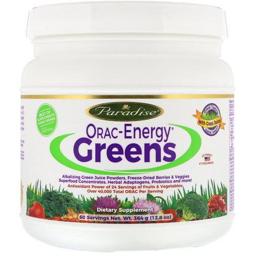 Paradise Herbs, ORAC-Energy Greens, 12.8 oz (364 g) Review