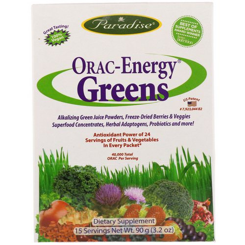 Paradise Herbs, ORAC-Energy Greens, 15 Packets, 6 g Each Review