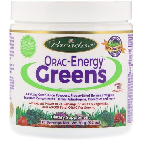 Paradise Herbs, ORAC-Energy Greens, 3.2 oz (91 g) Review