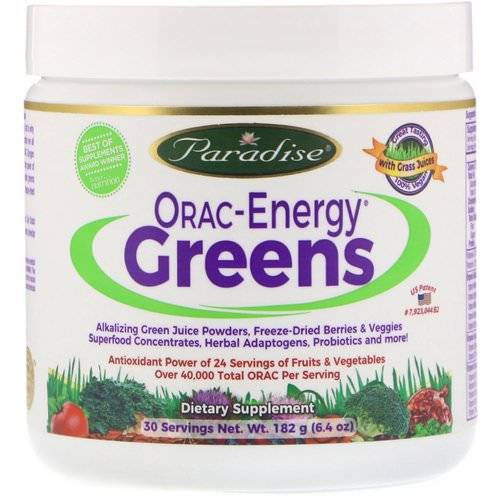 Paradise Herbs, ORAC-Energy Greens, 6.4 oz (182 g) Review
