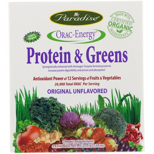Paradise Herbs, ORAC-Energy, Protein & Greens, 14 Packets, 0.53 oz (15 g) Review