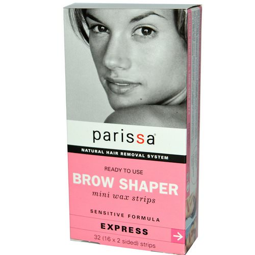 Parissa, Natural Hair Removal System, Brow Shaper, Mini Wax Strips, 32 (16 x 2 sided) Strips Review