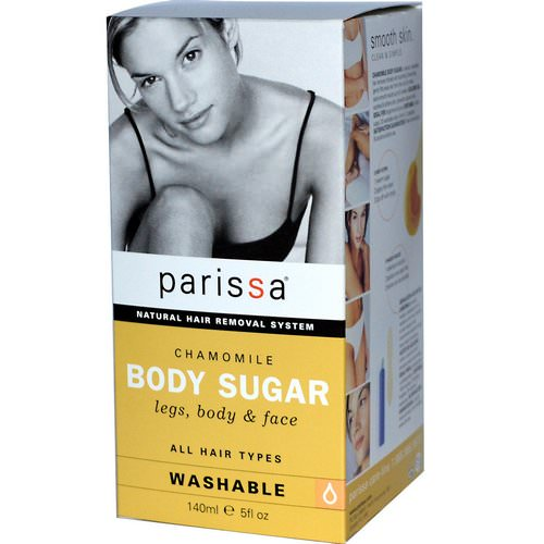 Parissa, Natural Hair Removal System, Chamomile, Body Sugar, Legs, Body, & Face, 5 fl oz (140 ml) Review