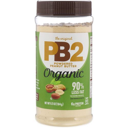 PB2 Foods, The Original PB2, Organic Powdered Peanut Butter, 6.5 oz (184 g) Review