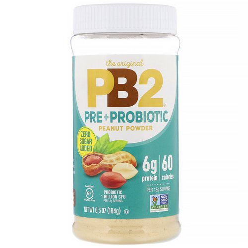 PB2 Foods, The Original PB2, Pre + Probiotic Peanut Powder, 6.5 oz (184 g) Review
