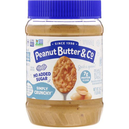Peanut Butter & Co, Simply Crunchy, Peanut Butter Spread, No Added Sugar, 16 oz (454 g) Review