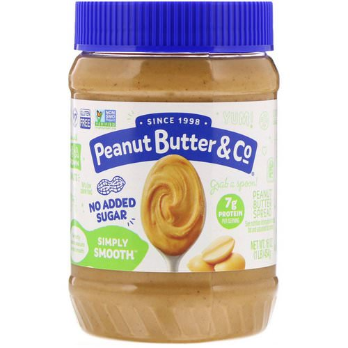 Peanut Butter & Co, Simply Smooth, Peanut Butter Spread, No Added Sugar, 16 oz (454 g) Review