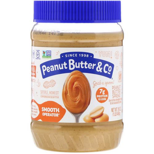 Peanut Butter & Co, Smooth Operator, Peanut Butter Spread, 16 oz (454 g) Review