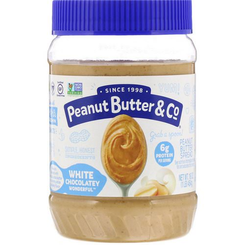 Peanut Butter & Co, White Chocolate Wonderful, Peanut Butter Blended with Sweet White Chocolate, 16 oz (454 g) Review