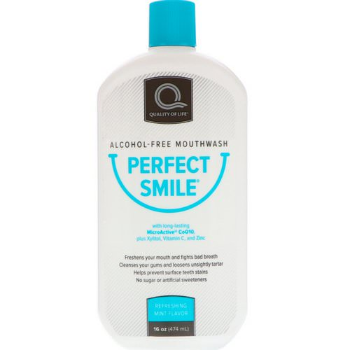 Perfect Smile, Alcohol-Free Mouthwash, Refreshing Mint Flavor, 16 oz (474 ml) Review
