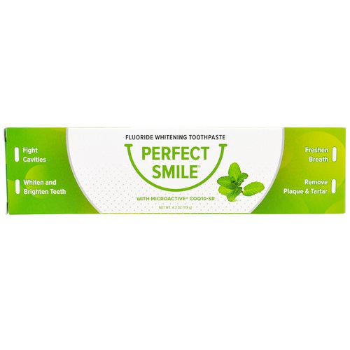 Perfect Smile, Fluoride Whitening Toothpaste With CoQ10-SR, 4.2 oz (119 g) Review