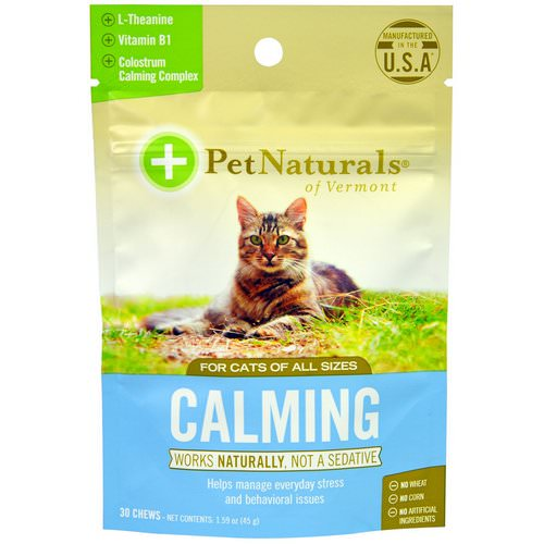 Pet Naturals of Vermont, Calming, For Cats, 30 Chews, 1.59 oz (45 g) Review