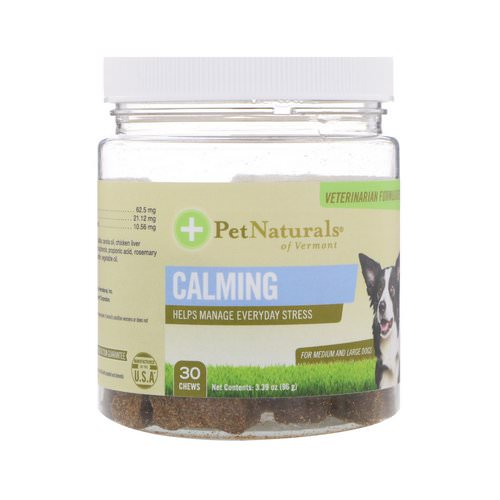 Pet Naturals of Vermont, Calming, For Medium & Large Dogs, 30 Chews, 3.39 oz (96 g) Review