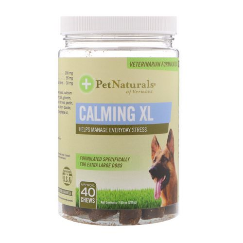 Pet Naturals of Vermont, Calming XL, For Extra Large Dogs, 40 Chews, 7.05 oz (200 g) Review