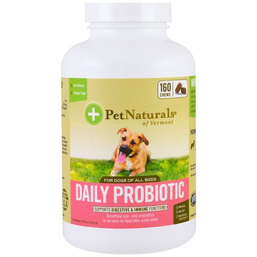 Pet Naturals of Vermont, Daily Probiotic, For Dogs of All Sizes, 160 Chews, 8.46 oz (240 g) Review