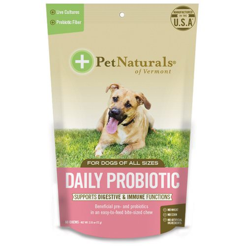 Pet Naturals of Vermont, Daily Probiotic, For Dogs of All Sizes, 60 Chews, 2.55 oz (72 g) Review